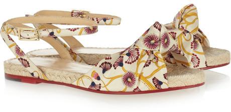 Charlotte Olympia Marina printed crepe de chine sandals