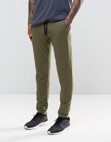 Asos Skinny Joggers With Zips In Khaki