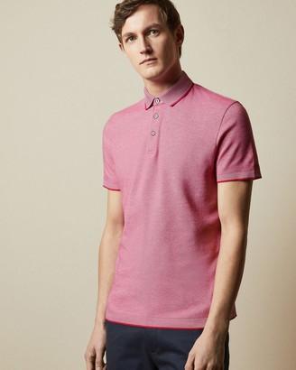 Ted Baker Striped Collar Polo Shirt