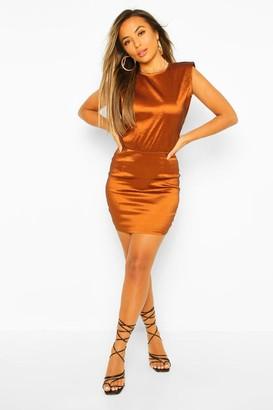 boohoo Petite Shoulder Pad Dress