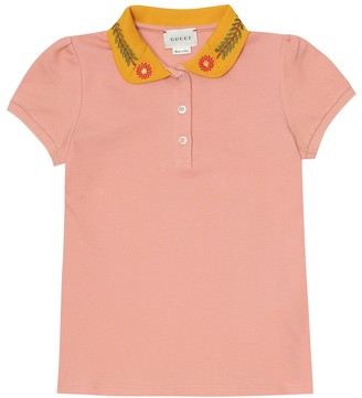 Gucci Kids Stretch-cotton pique polo shirt