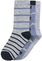 Joe Fresh Kid Boys' 3 Pack Rib Ankle Socks, Grey (Size 11-2)