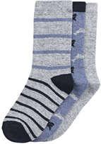 Joe Fresh Kid Boys' 3 Pack Rib Ankle Socks, Grey (Size 3-6)