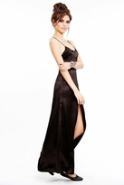 For Love & Lemons On Pointe Maxi Dress in Black