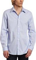 Calvin Klein Men's Long Sleeve Mini Check Poplin Shirt