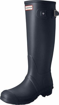 Hunter Women's Original Back Adjustable Rain Boots Navy 11 M US
