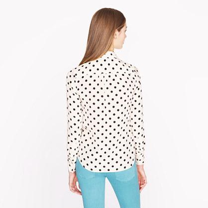 J.Crew Blythe blouse in polka dot