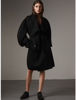 Burberry Double-faced Wool Cashmere Sculptural Coat