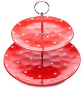 Maxwell & Williams Maxwell & WilliamsTM Sprinkle 2-Tier Cake Stand in Red