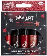 NPW Glitter Mini Nail Art Pens, Pack of 5, Multi