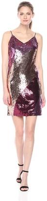 Aidan Mattox Aidan Women's Spaghetti Strap Beaded Dress