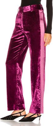 Sies Marjan Sonya Liquid Velvet Slim Pant in Raspberry   FWRD