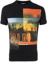 DSQUARED2 desert palm photo T-shirt