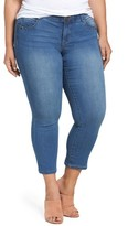 Democracy Plus Size Women's Ab-Solution Stretchy Skinny Ankle Jeans