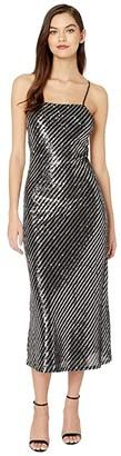 Bardot Slip Dress (Stripe Sequin) Women's Dress