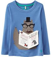 Joules Little Joule Boys' Chomp Animal Applique T-Shirt, Blue