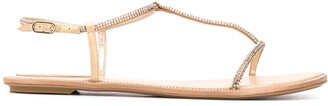 Rene Caovilla Gem Embellished Sandals