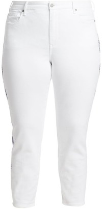 Nydj, Plus Size Ami Embroidered Skinny Jeans