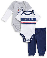 Tommy Hilfiger Three-Piece Graphic Bodysuits and Pants Set