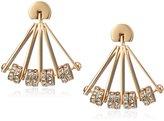 Fossil Fan Stud Earrings