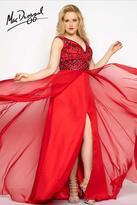 Mac Duggal Fabulouss - 65970 V Neck Gown In Red