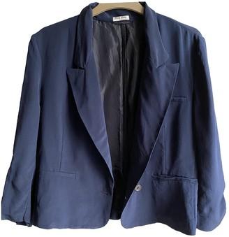 Miu Miu Blue Silk Jacket for Women