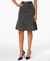 Kasper Tweed Fit & Flare Skirt
