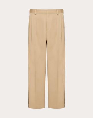 Valentino Collection Cotton Pants Man Natural 100% Cotone 48