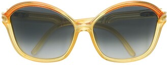 Christian Dior Pre-Owned Round Oversized Tinted Sunglasses