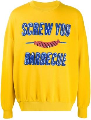 Henrik Vibskov Barbecue patch organic-cotton sweatshirt