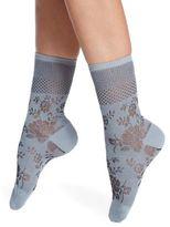 Natori Legwear Floral Crew Socks