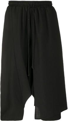 Alchemy Drop-Crotch Linen Shorts