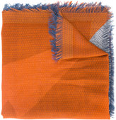Fendi block panel scarf - men - Silk/Wool - One Size