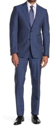 Calvin Klein Plain Bright Navy Slim Suit