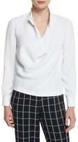Elizabeth and James Darby Long-Sleeve Cowl Blouse, White