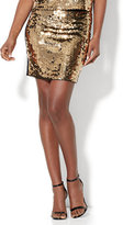 New York & Co. Goldtone Sequin Skirt
