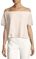 Generation Love Carly Off-the-Shoulder Lace Top, Nude