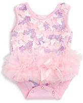 Infant Girl's Popatu Butterfly Tutu Bodysuit