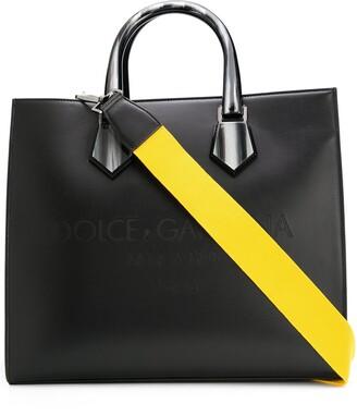 Dolce & Gabbana Logo-Debossed Tote Bag