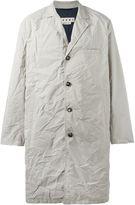 Marni contrast detail creased coat