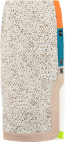 Peter Pilotto Bouclé-paneled cady midi skirt