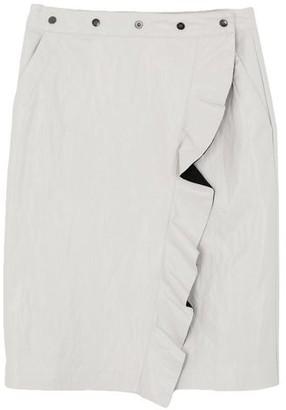 Nude Knee length skirt