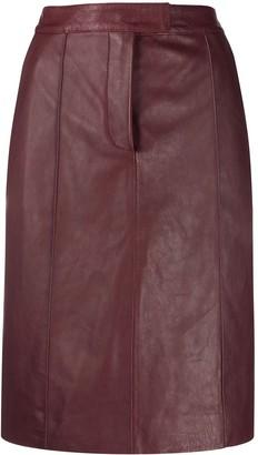 Victoria Victoria Beckham High-Waisted Leather Skirt