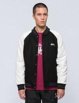 Stussy Two Tone Wool Varsity Jacket