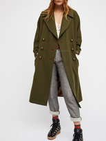 Free People Slouchy Wool Coat