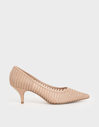 Charles & Keith Mesh Pointed Toe Pumps