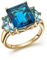 Bloomingdale's London and Sky Blue Topaz Statement Ring in 14K Yellow Gold