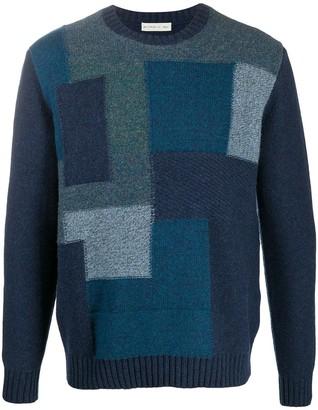 Etro Geometric-Pattern Wool Jumper