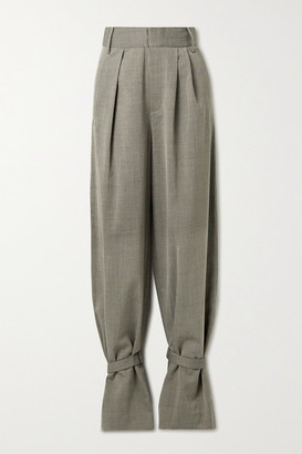Tibi Luka Pleated Twill Tapered Pants - Gray