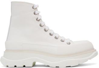 Alexander McQueen White Tread Slick Platform High Sneakers